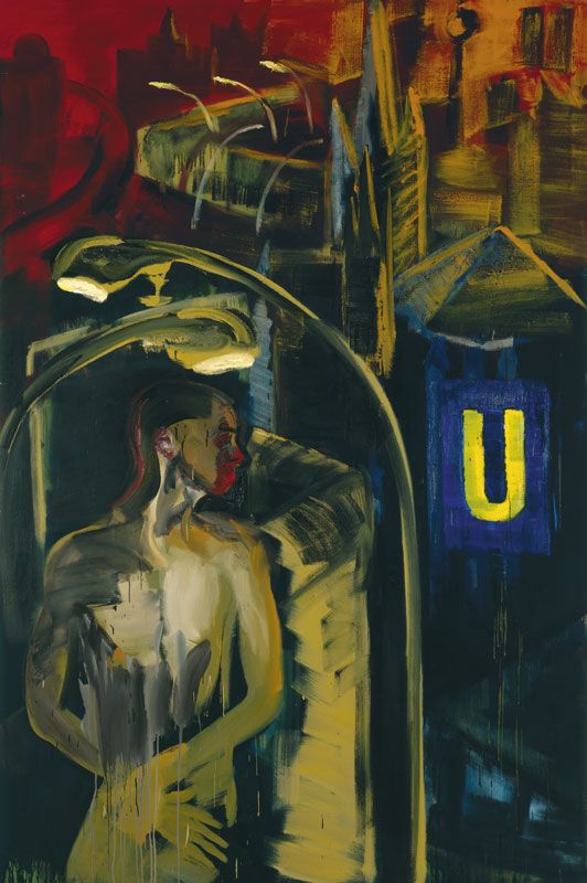 Rainer Fetting | Mauer am Südstern (André) | 1988