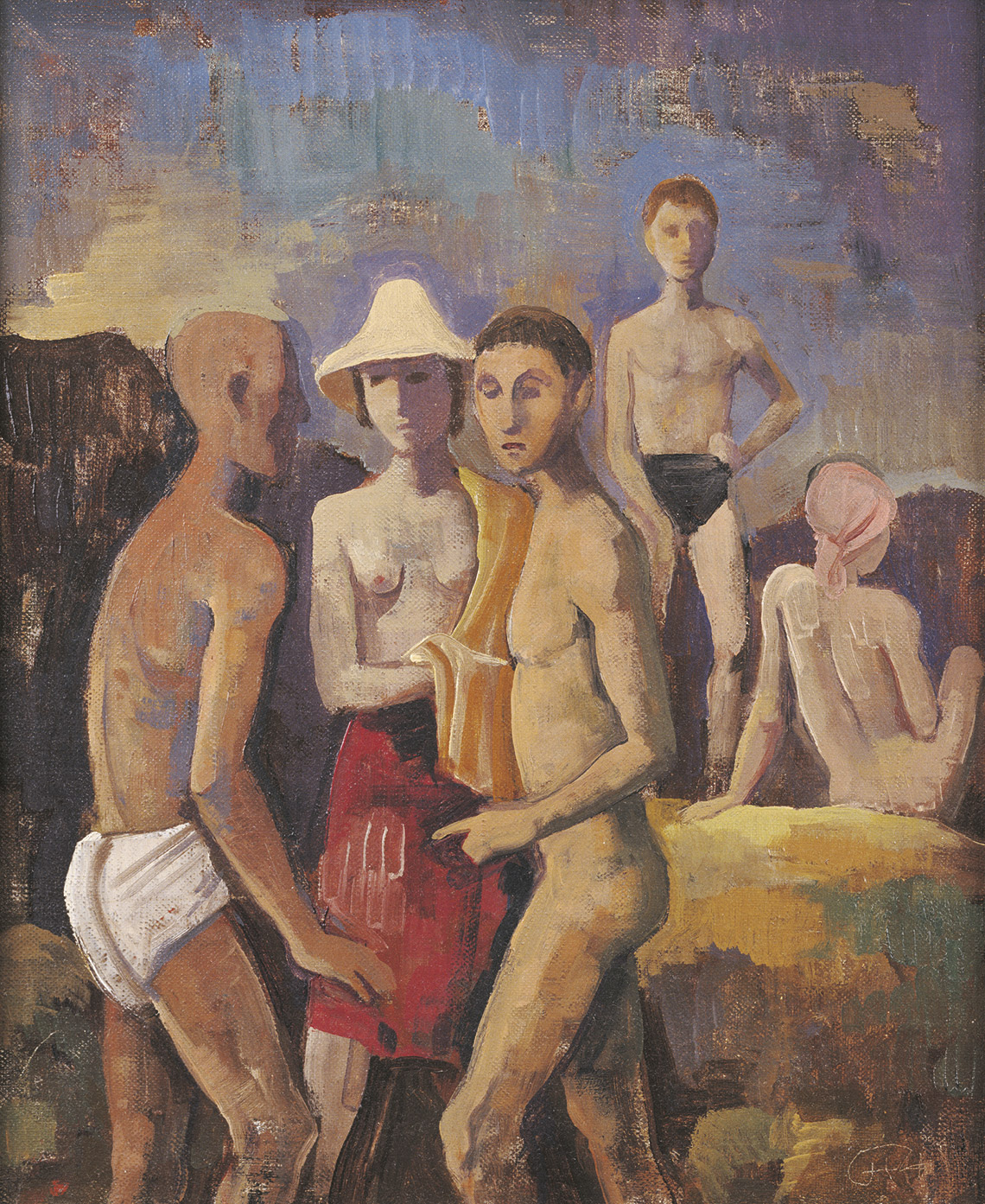 Karl Hofer | Fünf Figuren am Meer | 1944